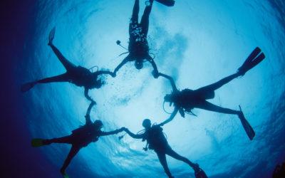 Führungskräftetraining: Tauchen und Gruppenführung