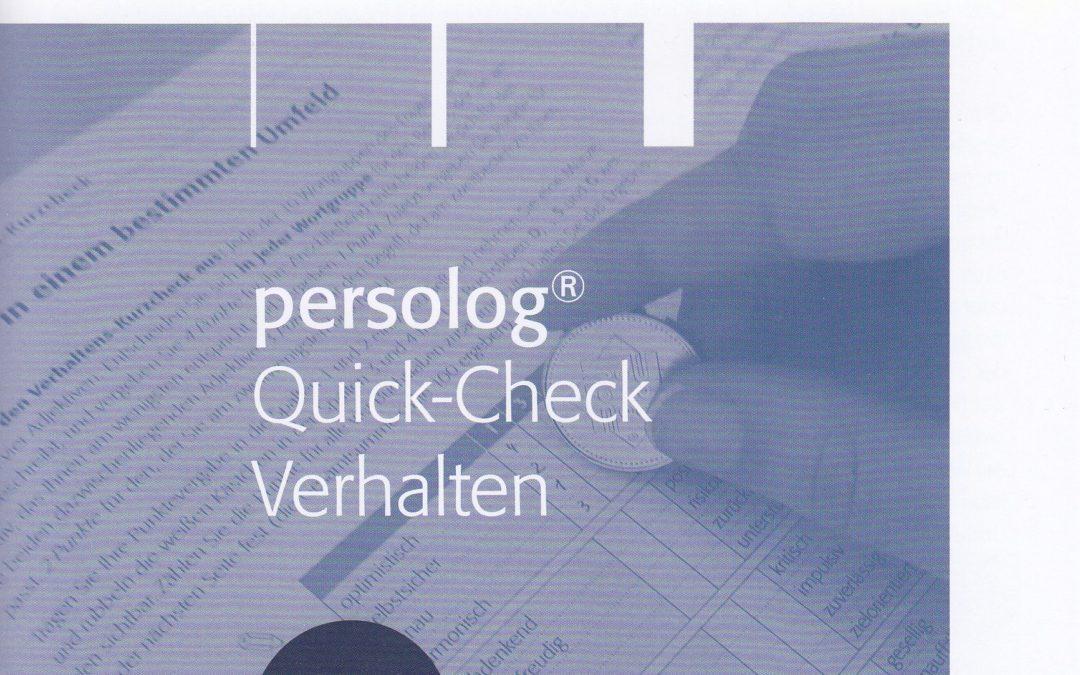 Quick-Check Verhalten – Kleines Persönlichkeitsprofil online