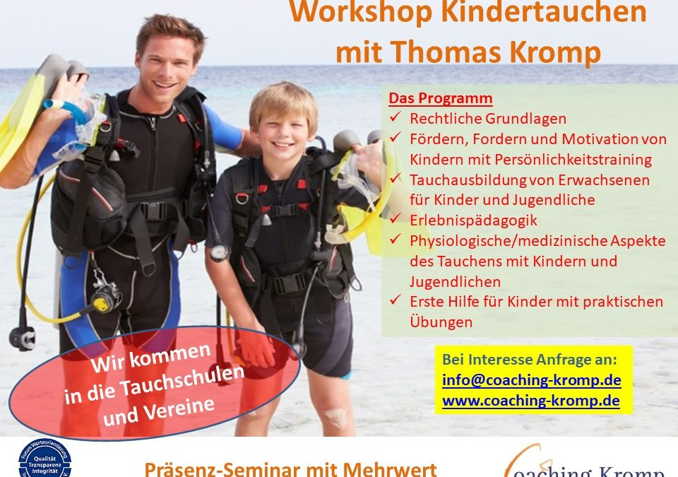 Workshop Kindertauchen für Eltern und Ausbilder